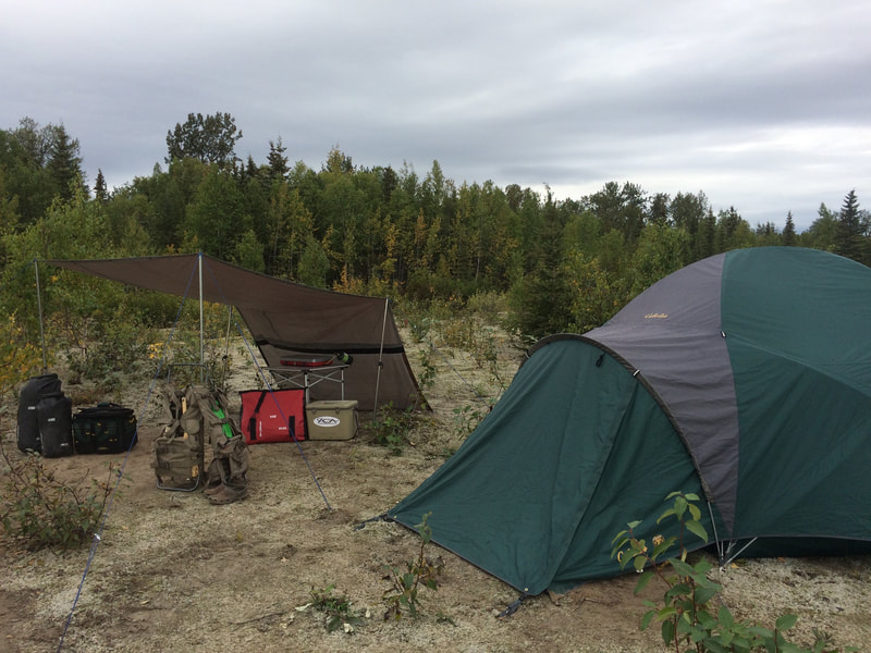 Moose hunting and camping trips