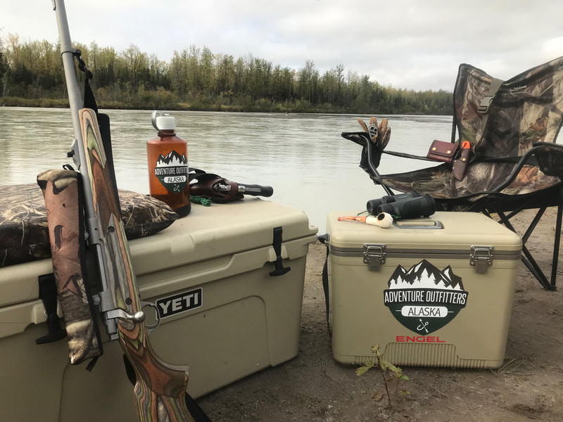 Camping equipment for moose hunt